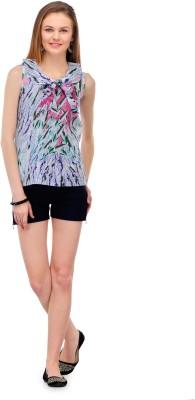 1OAK Casual Sleeveless Printed Women's Multicolor Top