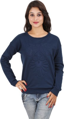 MA Casual Full Sleeve Printed Women's Dark Blue Top
