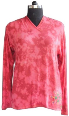 Beautiful Clothes Casual Full Sleeve Solid Women's Pink Top