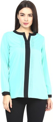 Martini Casual Full Sleeve Solid Women's Green Top