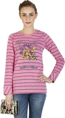 Duke Stardust Casual Full Sleeve Printed Women's Pink Top