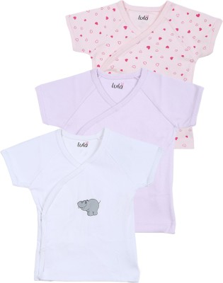 Lula Casual Short Sleeve Solid Baby Girl's Multicolor Top