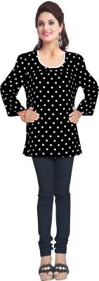 Dewberry Casual Full Sleeve Polka Print Women's Multicolor Top