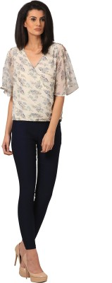 LiLium Casual Bell Sleeve Floral Print Women's Multicolor Top at flipkart