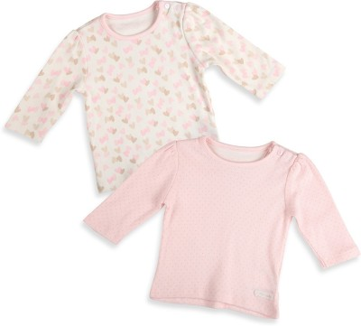 Mothercare Casual Full Sleeve Printed Baby Girl's Beige, Pink Top