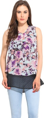 Instacrush Casual Sleeveless Printed Women,s Multicolor Top