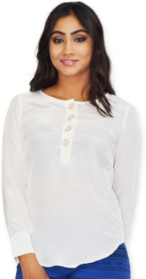 Riot Jeans Casual Full Sleeve Solid Women's White Top