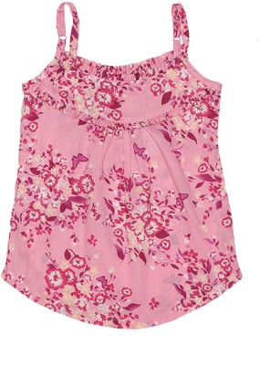 Elle Casual Sleeveless Floral Print Girl's Pink Top