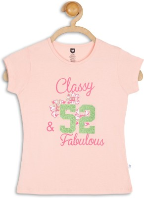 612 League Casual Short Sleeve Solid Girl's Pink Top