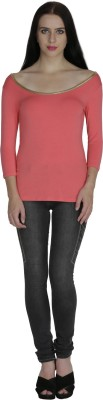 Svt Ada Collections Formal 3/4 Sleeve Solid Women's Pink Top