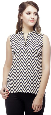 ORIANNE Casual Sleeveless Geometric Print Women's Multicolor Top
