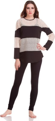 Private Lives Casual Full Sleeve Solid Women's Black Top