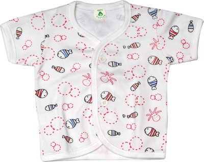 Babeezworld Casual Short Sleeve Printed Baby Girl's Multicolor Top