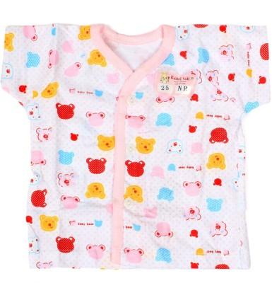 Baby Bucket Casual Short Sleeve Printed Baby Girl's Pink Top