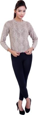 Ameri Casual Full Sleeve Woven Women's Beige Top