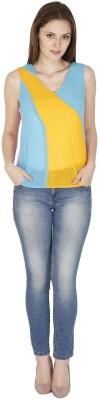 pinaki perryhills Casual Sleeveless Solid Women's Multicolor Top