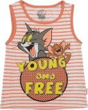 Tom & Jerry Top For Casual Cotton Tank T...