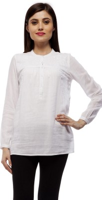 Stylestone Casual, Formal, Lounge Wear, Beach Wear, Party Full Sleeve Embroidered Women's White Top
