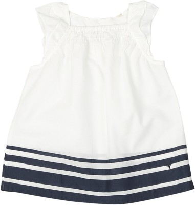 Allen Solly Casual Short Sleeve Solid Girl's White Top