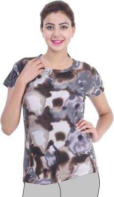 Broche Casual Short Sleeve Printed Women's Multicolor Top