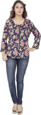 MISTER LADY Casual 3/4 Sleeve Printed Women,s Multicolor Top