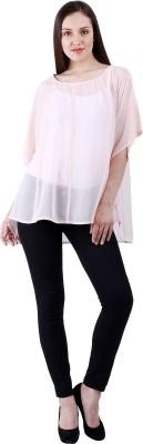 Selfiwear Casual Short Sleeve Solid Women's Orange Top
