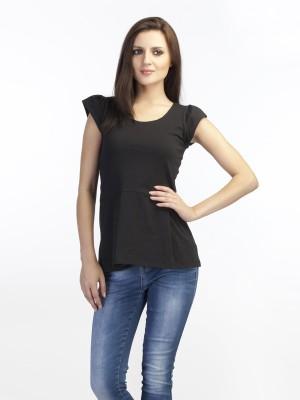 Schwof Casual Short Sleeve Solid Women's Black Top