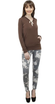 Pab Jules Casual Full Sleeve Solid Women's Brown Top