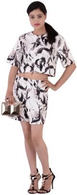 Fashnopolism Casual Short Sleeve Self Design Women's Brown Top