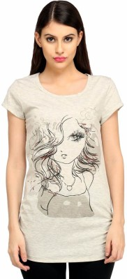 Snoby Casual Short Sleeve Printed Women's White Top