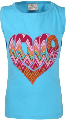 Joshua Tree Casual Short Sleeve Printed Girl's Blue Top