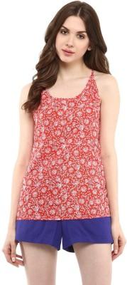 Abiti Bella Casual Sleeveless Floral Print Women's Red Top