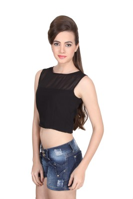 Western Route Casual Sleeveless Solid Women's Multicolor Top