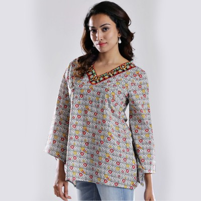 Imara Casual 3/4 Sleeve Printed Women's Multicolor Top