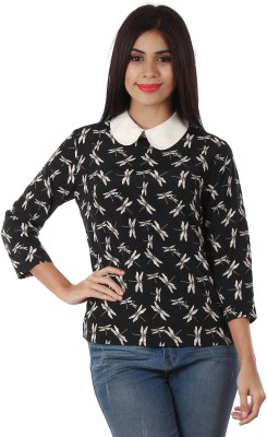 Golden Couture Casual, Party 3/4 Sleeve Printed Women's Multicolor Top