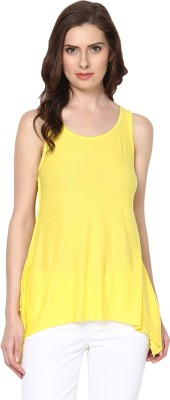 Trend18 Casual Sleeveless Solid Women's Yellow Top