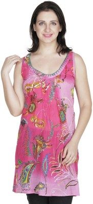Old Tailor Casual Sleeveless Printed Women's Pink Top