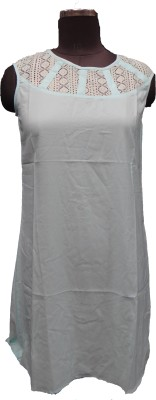 V.K TRADERS Casual Sleeveless Embroidered Women's Grey Top