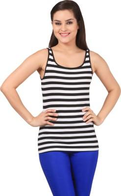 FashionExpo Casual, Sports Sleeveless Solid Women's Black, White Top