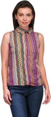 Zachi Casual Sleeveless Printed Women's Multicolor Top