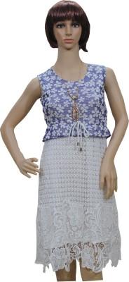 Sarva Casual, Party Sleeveless, Short Sleeve Self Design Women's Multicolor Top