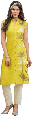 Shanaya Creations Party Sleeveless Embroidered Women's Yellow Top