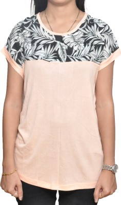 Lazy Dog Casual Short Sleeve Printed Women's Pink Top