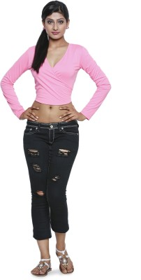 Five Stone Casual Full Sleeve Solid Women's Pink Top