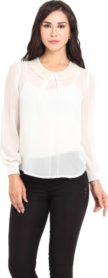 Pryma Donna Casual Full Sleeve Solid Women's White Top