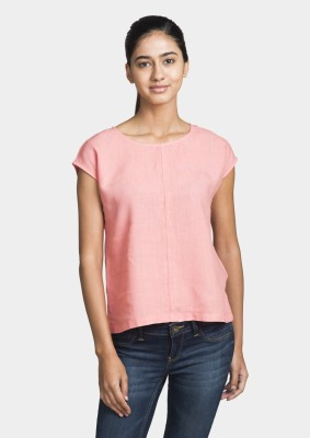Bhane Casual Sleeveless Solid Women's Pink Top
