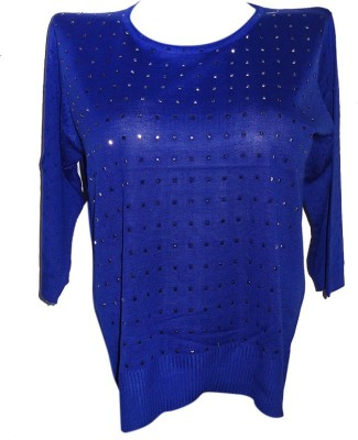 Forever 18 Casual 3/4 Sleeve Woven Women's Blue Top
