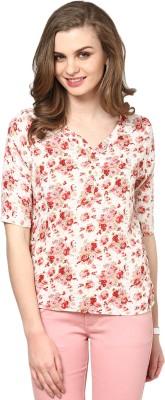 La Zoire Casual 3/4 Sleeve Floral Print Women's Multicolor Top