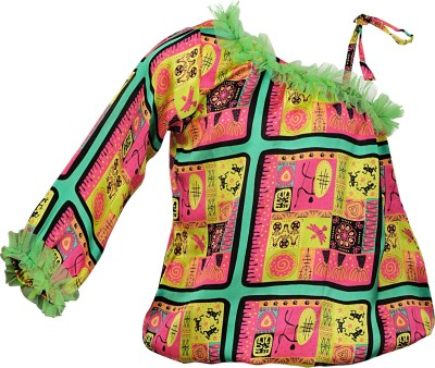 Lil Poppets Casual Full Sleeve Printed Girl's Multicolor Top