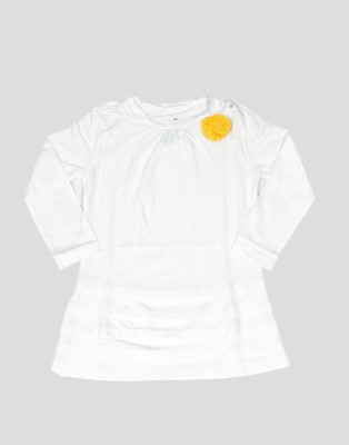 Dreamszone Casual Full Sleeve Solid Girl,s White Top